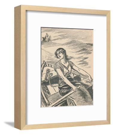 'Grace Darling Rows Out To The Wreck', c1907-Unknown-Framed Giclee Print