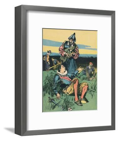 'Sir Philip Sidney and the Dying Soldier', c1907-Unknown-Framed Giclee Print