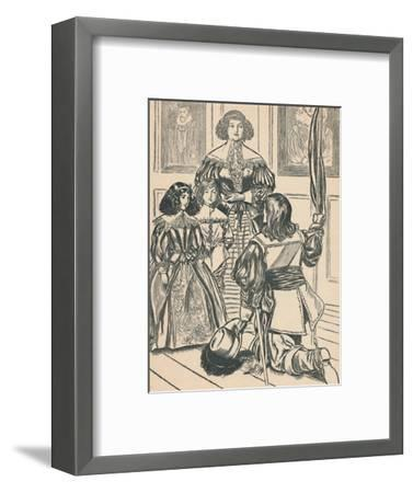 'The Countess Receives The Banners', c1907-Unknown-Framed Giclee Print