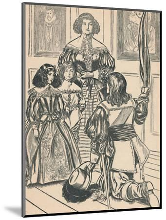 'The Countess Receives The Banners', c1907-Unknown-Mounted Giclee Print