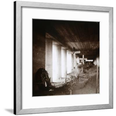 Bayonet Trench, Verdun, northern France, c1916-c1918-Unknown-Framed Photographic Print