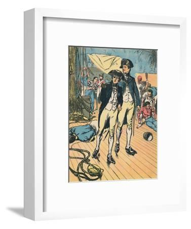 'Nelson on the Victory at Trafalgar', c1907-Unknown-Framed Giclee Print