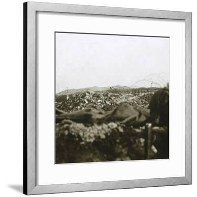 The summit, Les Éparges, northern France, c1914-c1918-Unknown-Framed Photographic Print
