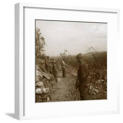 German front line, Verdun, northern France, c1914-c1918-Unknown-Framed Photographic Print
