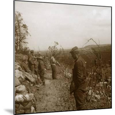 German front line, Verdun, northern France, c1914-c1918-Unknown-Mounted Photographic Print