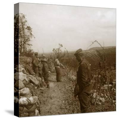 German front line, Verdun, northern France, c1914-c1918-Unknown-Stretched Canvas Print