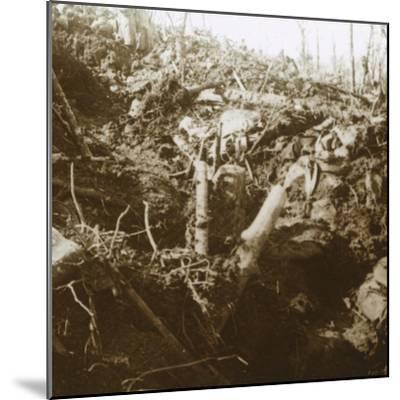 Destroyed shelter, Les Éparges, northern France, 1915-Unknown-Mounted Photographic Print