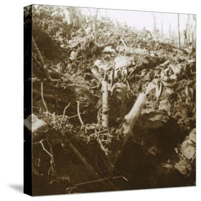 Destroyed shelter, Les Éparges, northern France, 1915-Unknown-Stretched Canvas Print