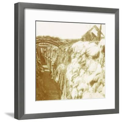 Trenches, front line, Diksmuide, Belgium, c1914-c1918-Unknown-Framed Photographic Print