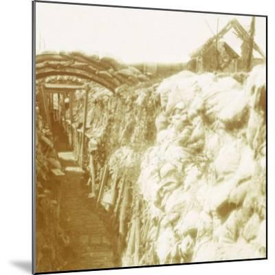 Trenches, front line, Diksmuide, Belgium, c1914-c1918-Unknown-Mounted Photographic Print