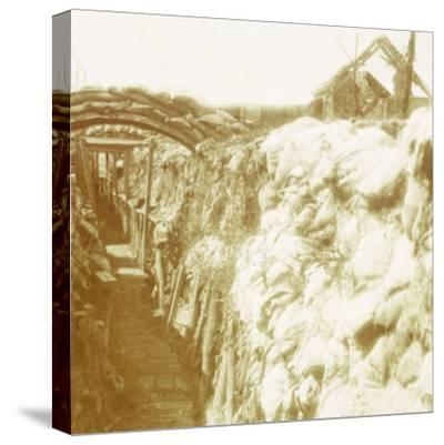 Trenches, front line, Diksmuide, Belgium, c1914-c1918-Unknown-Stretched Canvas Print