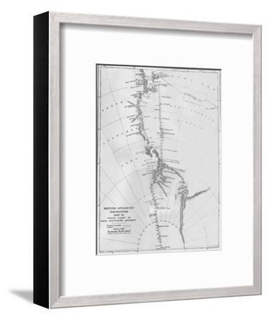 'Map - British Antarctic Expedition 1910-13. Track Chart of Main Southern Journey', 1913-Unknown-Framed Giclee Print