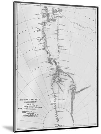 'Map - British Antarctic Expedition 1910-13. Track Chart of Main Southern Journey', 1913-Unknown-Mounted Giclee Print