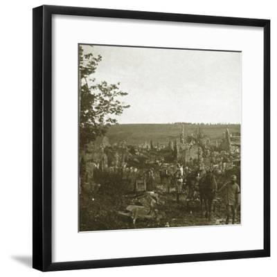 Convoy, Les Éparges, northern France, c1914-c1918-Unknown-Framed Photographic Print