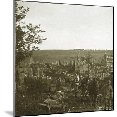 Convoy, Les Éparges, northern France, c1914-c1918-Unknown-Mounted Photographic Print