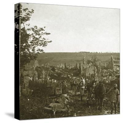 Convoy, Les Éparges, northern France, c1914-c1918-Unknown-Stretched Canvas Print