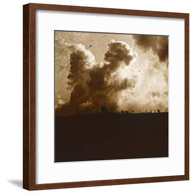 Gas attack, Verdun, northern France, c1914-c1918-Unknown-Framed Photographic Print