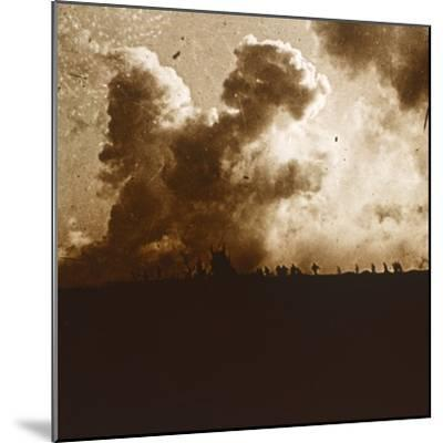Gas attack, Verdun, northern France, c1914-c1918-Unknown-Mounted Photographic Print