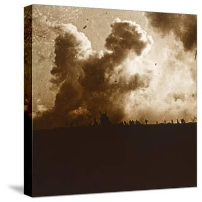Gas attack, Verdun, northern France, c1914-c1918-Unknown-Stretched Canvas Print