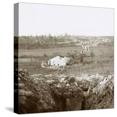 Village of Damloup, northern France, c1914-c1918-Unknown-Stretched Canvas Print