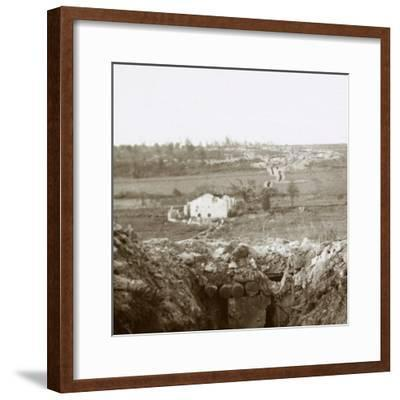 Village of Damloup, northern France, c1914-c1918-Unknown-Framed Photographic Print