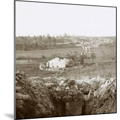 Village of Damloup, northern France, c1914-c1918-Unknown-Mounted Photographic Print