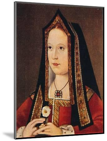 'Elizabeth of York', 1935-Unknown-Mounted Giclee Print