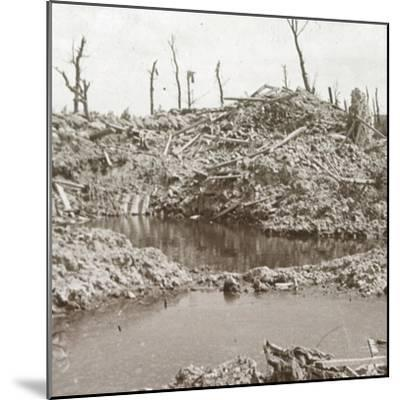 Banks of the River Yser, Diksmuide, Belgium, c1914-c1918-Unknown-Mounted Photographic Print