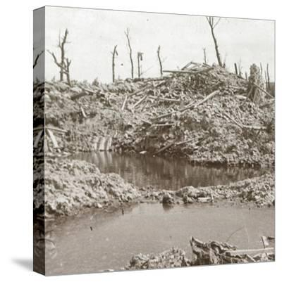 Banks of the River Yser, Diksmuide, Belgium, c1914-c1918-Unknown-Stretched Canvas Print