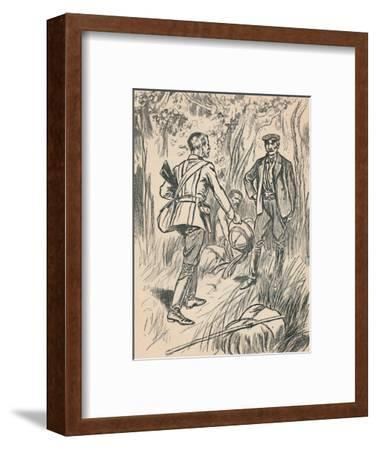 'The Meeting of Stanley and Livingstone', c1907-Unknown-Framed Giclee Print