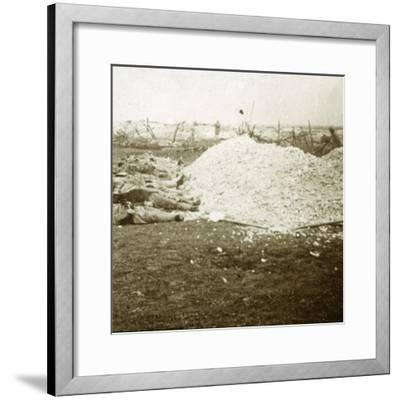 Dead bodies, Souain, northern France, September 1915-Unknown-Framed Photographic Print