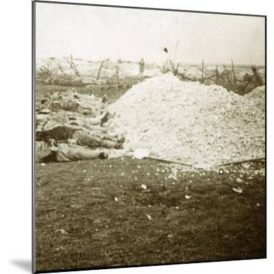 Dead bodies, Souain, northern France, September 1915-Unknown-Mounted Photographic Print