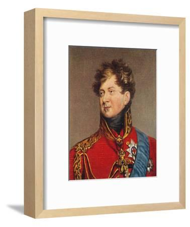 'George IV', 1935-Unknown-Framed Giclee Print