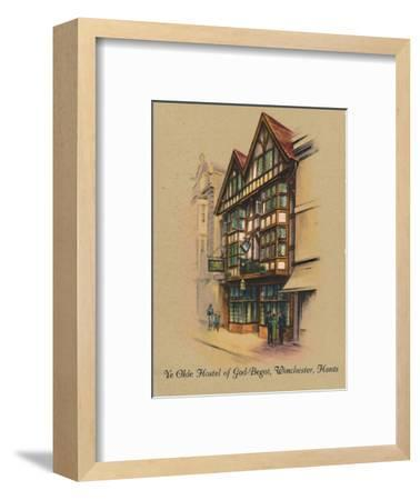 'Ye Olde Hostel of God-Begot, Winchester, Hants', 1939-Unknown-Framed Giclee Print
