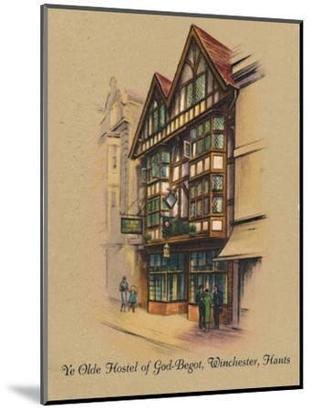 'Ye Olde Hostel of God-Begot, Winchester, Hants', 1939-Unknown-Mounted Giclee Print