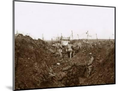 Soldiers in the trenches, Massiges, northern France, c1914-c1918-Unknown-Mounted Photographic Print