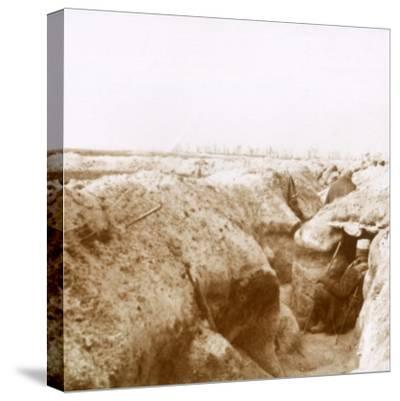 Trenches, Champagne, northern France, c1914-c1918-Unknown-Stretched Canvas Print