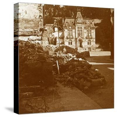 Town hall, Chateau Thierry, France, c1914-c1918-Unknown-Stretched Canvas Print