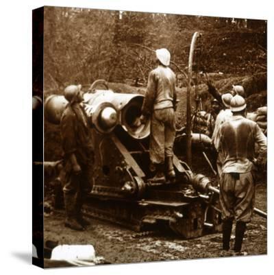 Artillery, Bois du Chatelet, France, c1914-c1918-Unknown-Stretched Canvas Print