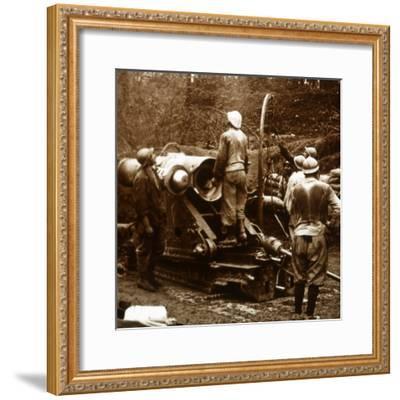 Artillery, Bois du Chatelet, France, c1914-c1918-Unknown-Framed Photographic Print