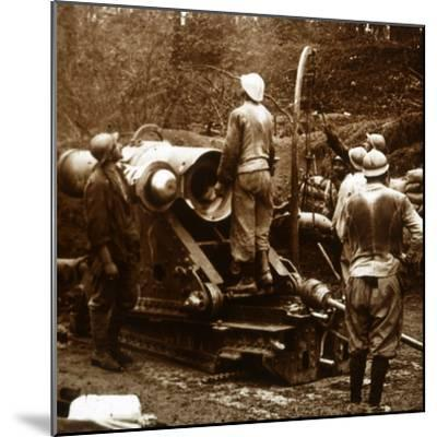 Artillery, Bois du Chatelet, France, c1914-c1918-Unknown-Mounted Photographic Print
