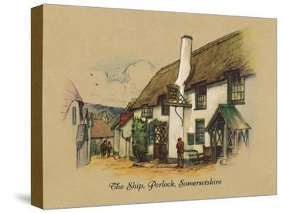 'The Ship, Porlock, Somersetshire', 1939-Unknown-Stretched Canvas Print