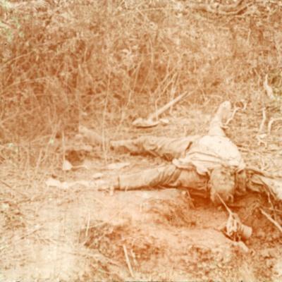Dead body, Furnes, Flanders, Belgium, c1914-c1918-Unknown-Framed Photographic Print