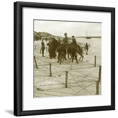 Arriving at La Panne, Flanders, Belgium, c1914-c1918-Unknown-Framed Photographic Print