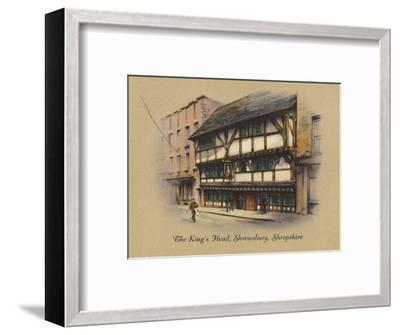 'The King's Head, Shrewsbury, Shropshire', 1939-Unknown-Framed Giclee Print