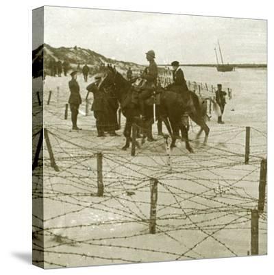 Arriving at La Panne, Flanders, Belgium, c1914-c1918-Unknown-Stretched Canvas Print