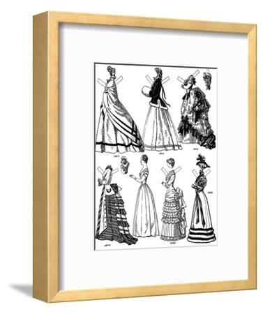 'The Great Gallery of British Costume: Some Women's Fashions from 1843 to 1893', c1934-Unknown-Framed Giclee Print