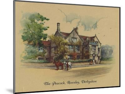 'The Peacock, Rowsley, Derbyshire', 1939-Unknown-Mounted Giclee Print