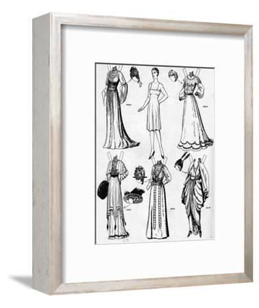 'The Gallery of Historic Costume: Dresses Worn During the Twentieth Century', c1934-Unknown-Framed Giclee Print