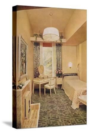 Bedroom designed by Esmé Gordon, A.R.I.B.A., A.R.I.A.S.-Unknown-Stretched Canvas Print